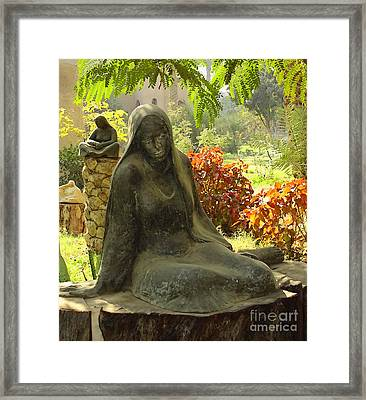 Garden Of Statues Egypt Framed Print by Mary Machare