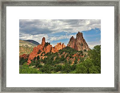 Garden Of The Gods - Colorado Springs Co Framed Print