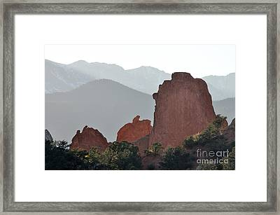 Framed Print featuring the photograph Garden Of The Gods by Cheryl McClure