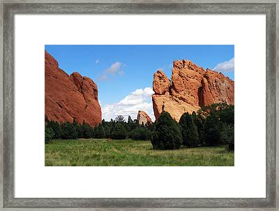 Framed Print featuring the photograph Garden Of The Gods by David Pantuso