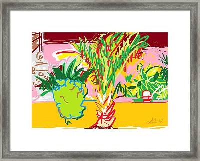 Garden Palm Framed Print