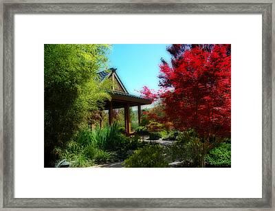 Garden Retreat Framed Print by Lynn Bauer