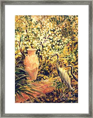 Framed Print featuring the painting Garden Sentinels by Dee Davis