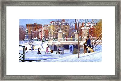 Garden Skaters Framed Print by Candace Lovely