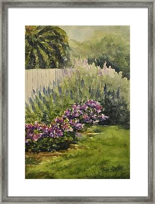 Garden Splendor Framed Print by Sandy Fisher