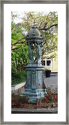 Framed Print featuring the photograph Garden Statuary In The French Quarter by Alys Caviness-Gober