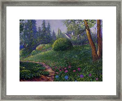 Garden Trail Framed Print