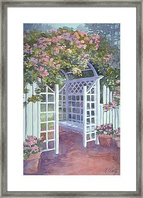 Garden Trellis Framed Print