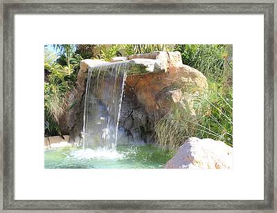 Garden Waterfall Framed Print by Shane Bechler