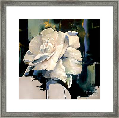 Gardenia Framed Print by Lin Petershagen
