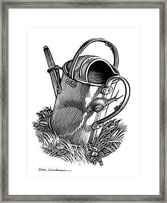 Gardening, Conceptual Artwork Framed Print by Bill Sanderson
