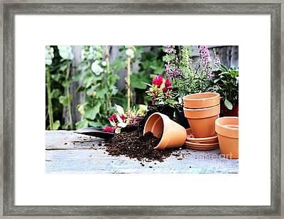 Gardening Framed Print by Stephanie Frey