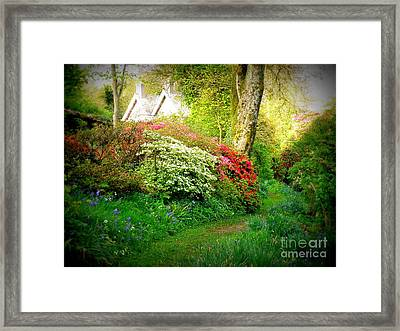 Gardens Of The Old Rectory Framed Print