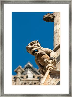 Framed Print featuring the photograph Gargoyle by Andrew  Michael