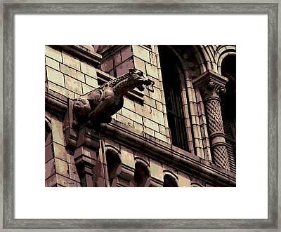 Gargoyle Framed Print by George Pedro
