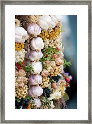 Garlic On Ecological Market Framed Print by Maciej Frolow