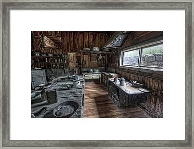 Garnet Ghost Town Hotel Kitchen - Montana Framed Print by Daniel Hagerman