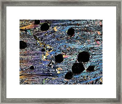 Garnets In Micaschist, Light Micrograph Framed Print
