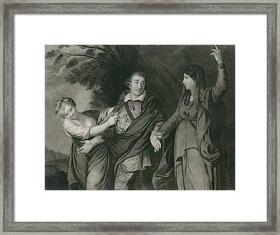 Garrick Between Tragedy And Comedy Framed Print by Everett