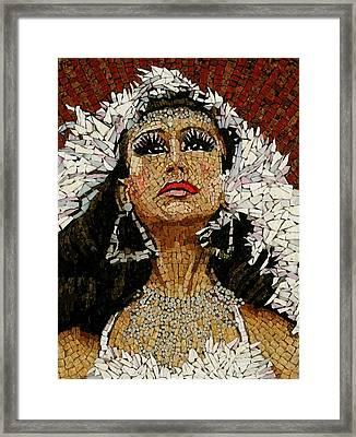 Garza Peru Framed Print by Michael Kruzich