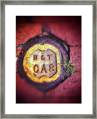 Gas And Grass Framed Print by Olivier Calas