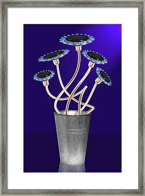 Gas Flowers Framed Print by Alice Gosling