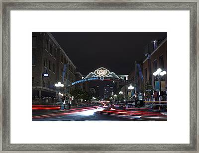 Gas Lamp Disctrict Framed Print