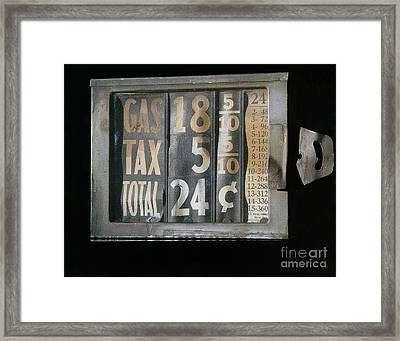 Gas Meter Framed Print by Photo Researchers