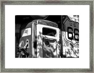 Gas Pump And Sign Framed Print