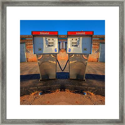 Gas Pump Sweethearts Framed Print by Peter Tellone