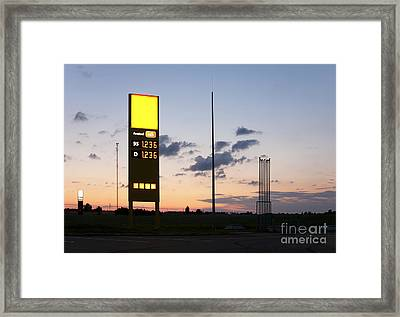 Gas Station Sign Framed Print by Jaak Nilson