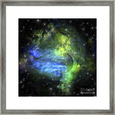 Gaseous Dense Clouds Form New Stars Framed Print by Corey Ford