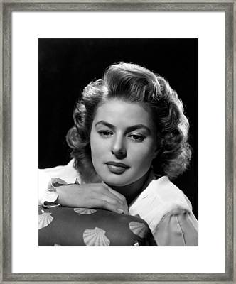 Gaslight, Ingrid Bergman, 1944 Framed Print by Everett