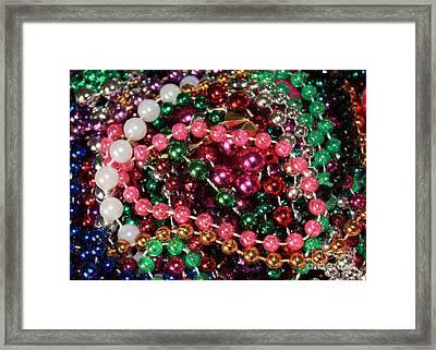 Gasparilla Beads 2 Framed Print by Carol Groenen