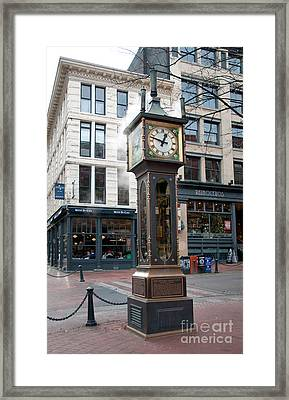 Gastown Steam Clock Framed Print by Carol Ailles