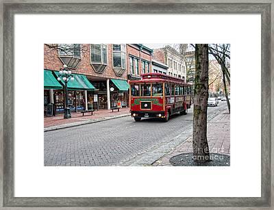 Framed Print featuring the digital art Gastown Street Scene by Carol Ailles