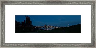 Gasworks Seattle Citiscape Framed Print by Mike Reid