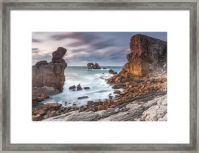 Gate In The Ocean Framed Print by Evgeni Dinev