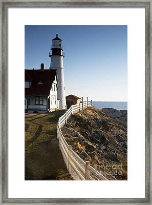 Gate Keeper Framed Print by Brenda Giasson