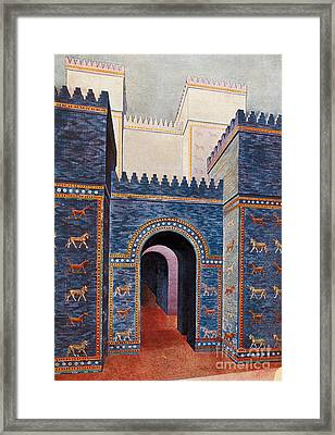Gate Of Ishtar, Babylonia Framed Print by Photo Researchers