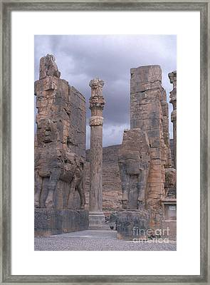 Gate Of Xerxes Framed Print by Photo Researchers