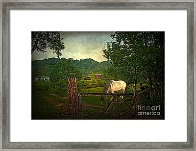 Gate To The Past Framed Print