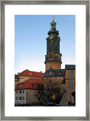 Gatehouse Weimar City Palace Framed Print