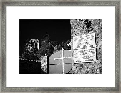Gates Of The Stavrovouni Monastery Founded In The 4th Century By St Helena Republic Of Cyprus Europe Framed Print by Joe Fox