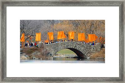 Gates Over Gapstow Bridge  Framed Print by Frank Winters