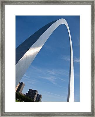 Framed Print featuring the photograph Gateway Arch In St Louis by Nancy De Flon