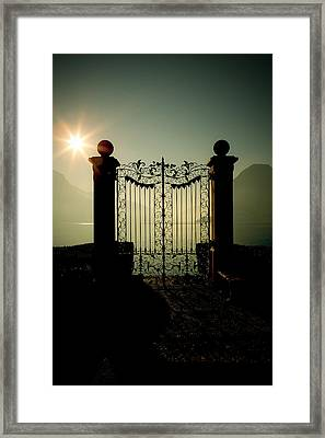 Gateway To The Lake Framed Print