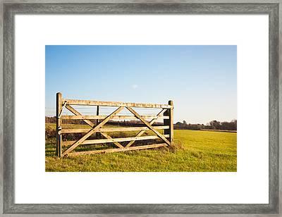 Gateway Framed Print by Tom Gowanlock