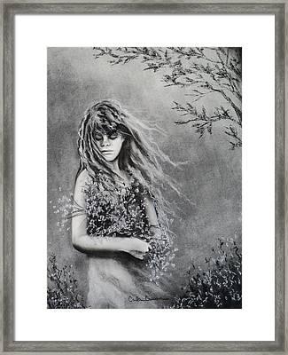 Gathering Spring Wildflowers Framed Print