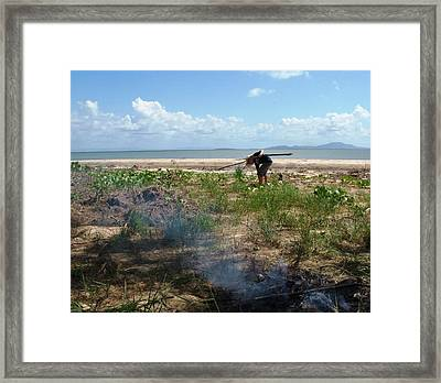 Framed Print featuring the photograph Gathering Sticks by Therese Alcorn
